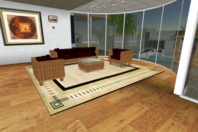 Rattan living room set