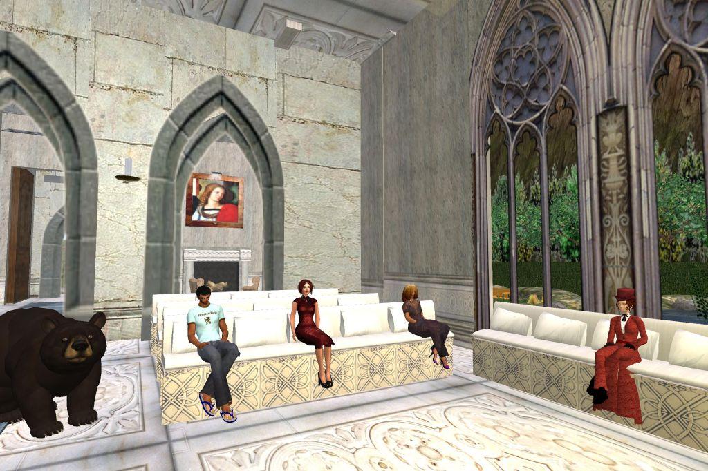 Evening prayer at the Meditation Chapel