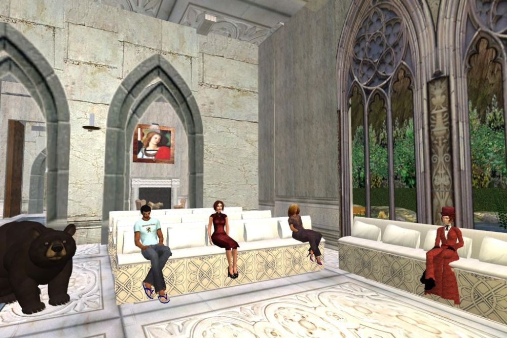 Evening prayer at the Meditation Chapel