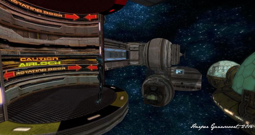 Starbase 14 - Airlock open to space